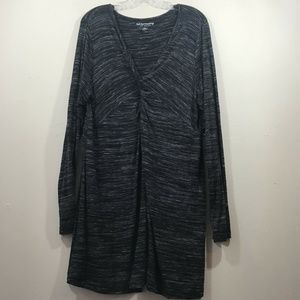 Soft Surroundings Womens XL  black Tunic Top gray